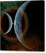 Two Alien Planets In A Distant Part Canvas Print