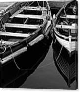 Two At Dock Canvas Print