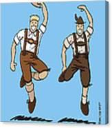 Two Bavarian Lederhosen Men Canvas Print