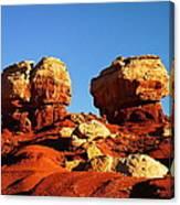 Two Big Rocks At Capital Reef Canvas Print