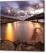Two Bridges #1 Canvas Print