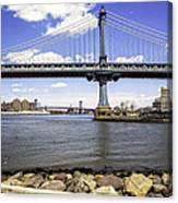 Two Bridges View - Manhattan Canvas Print