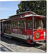 Two Cable Cars San Francisco Canvas Print