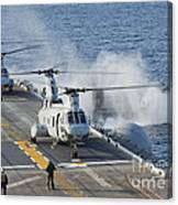 Two Ch-46e Sea Knight Helicopters Canvas Print