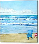 Two Chairs At The Beach Canvas Print