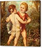 Two Cherubs Canvas Print