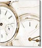 Two Clocks Canvas Print