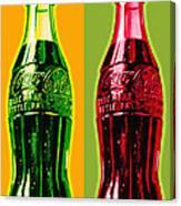 Two Coke Bottles Canvas Print