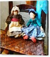 Two Colonial Rag Dolls Canvas Print