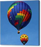 Two Colorful Balloons Canvas Print
