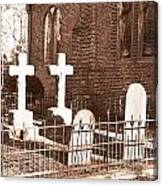Two Crosses In Saint Lukes  Canvas Print