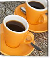 Two Cups Of Espresso Canvas Print