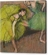 Two Dancers In The Foyer Canvas Print