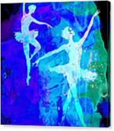 Two Dancing Ballerinas  Canvas Print
