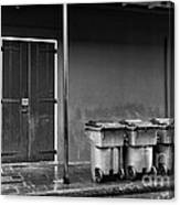 Two Doors And Three Cans Mono Canvas Print