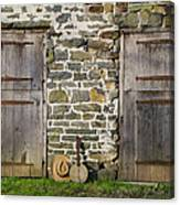Two Doors On A Barn Canvas Print