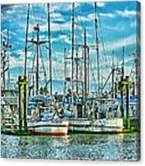 Two Fishing Boats Hdr Canvas Print