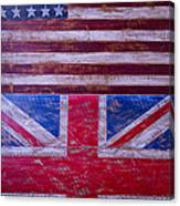 Two Flags American And British Canvas Print