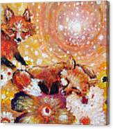 Two Foxes You Have A Friend In Me Canvas Print