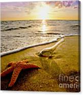 Two Friends On The Beach Canvas Print