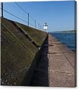 Two Harbors Mn Pier Light 15 Canvas Print