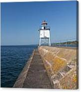 Two Harbors Mn Pier Light 8 Canvas Print