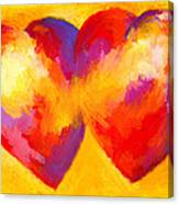 Two Hearts Beat As One Canvas Print