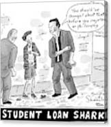 Two Henchman -- Student Loan Sharks -- Approach Canvas Print