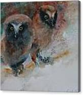 Two Hoots Canvas Print