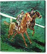 Two Horse Race Canvas Print