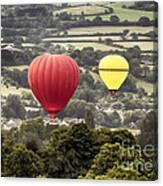Two Hot Air Baloons Drifting Canvas Print