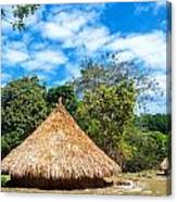 Two Indigenous Huts Canvas Print