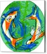 Two Koi Fish Canvas Print