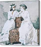 Two Ladies Canvas Print