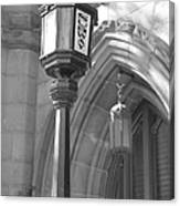 Two Lights And A Church Canvas Print