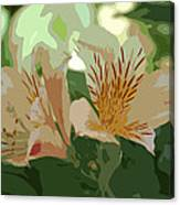Two Lilies Cutout Canvas Print