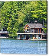 Two Luxury Boathouses Canvas Print