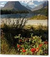 Two Medicine Lake In Glacier Canvas Print