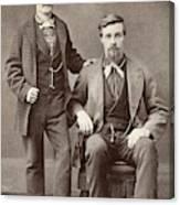 Two Men, 19th Century Canvas Print