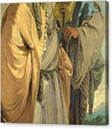 Two Men In Oriental Costume Canvas Print