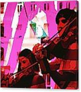Two Musicians Canvas Print
