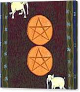 Two Of Pentacles Canvas Print