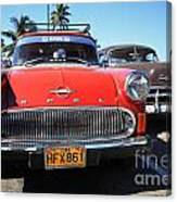 Two Old American Cars Canvas Print