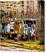 Two Old Cabooses Canvas Print