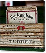 Two Old Cigarette Boxes Canvas Print