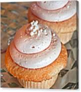 Two Pink Cupcakes Art Prints Canvas Print