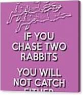 Two Rabbits Violet Canvas Print