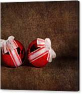 Two Red Ornaments Canvas Print