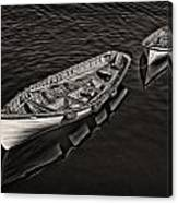 Two Row Boats Canvas Print