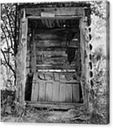 Two-seater Outhouse Canvas Print